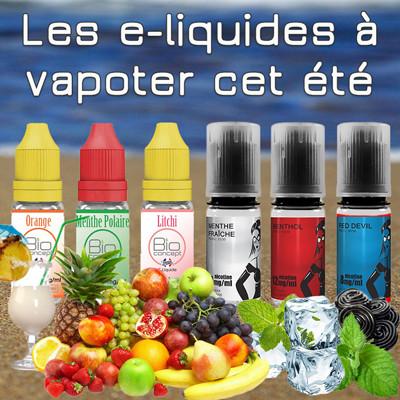 Nos conseils pour bien choisir les e-liquides à vapoter cet été