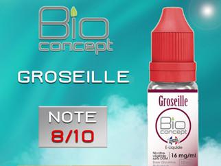 Test e-liquide BIO CONCEPT GROSEILLE : Une saveur fruitée originale. Note 8/10
