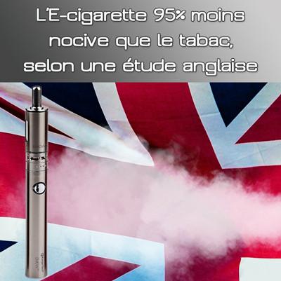 La cigarette électronique serait 95% moins nocive que le tabac selon une étude publique anglaise