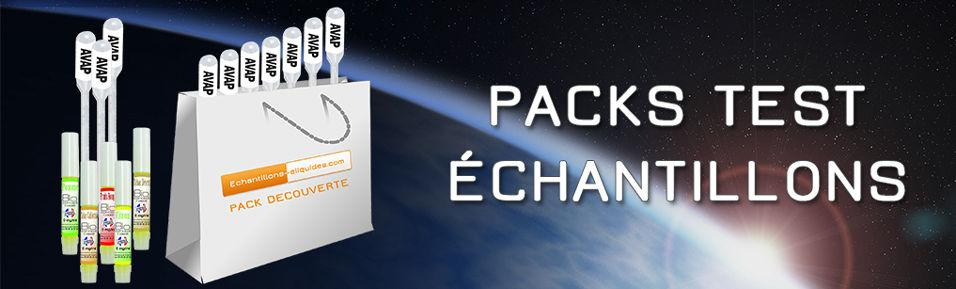 Packs Test Echantillons e-liquides 2ml : A partir de 5,99€