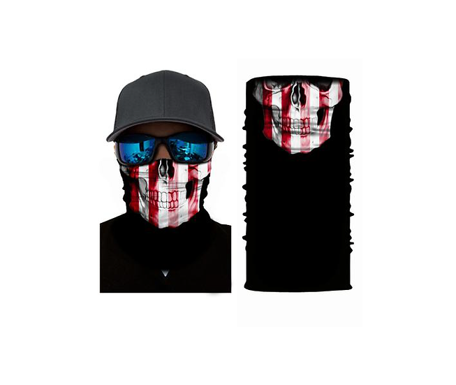 Skull American Flag Freedom Shield
