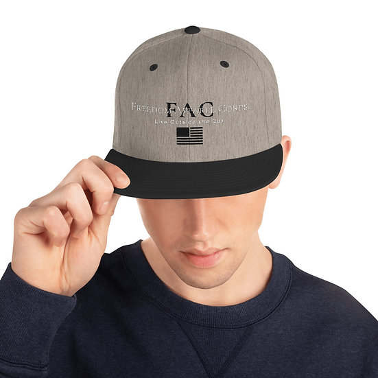 Live Outside The Box w/ Black FAC, Freedom Snapback Hat