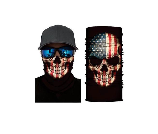 Skull American Flag Freedom Shield