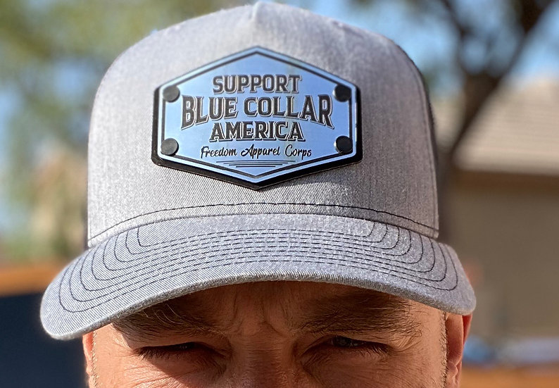 Blue collar America Trucker hat