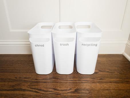 paper decluttering + organization