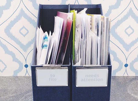 decluttering + organizing paper