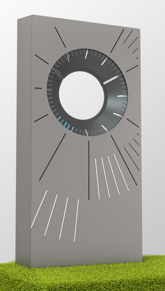 Hubless Clock
