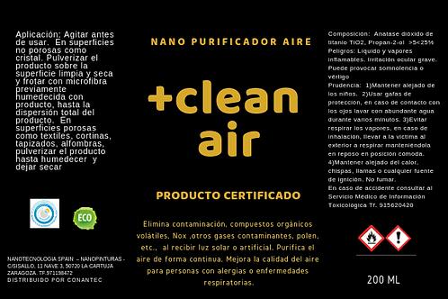Clean air nano recubrimiento fotocatalítico