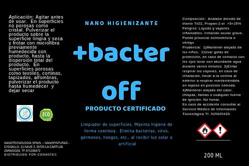 bacteroff nano recubrimiento fotocatalitico