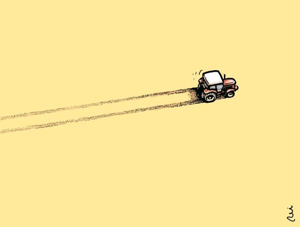 Zbloudilý traktorista