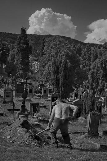 Hrobník Kubík, Hřbitov, Jáchymov