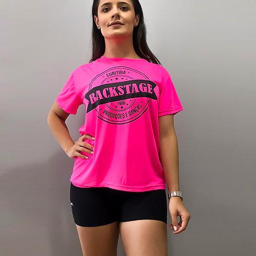 Camiseta Rosa Flúor Infantil