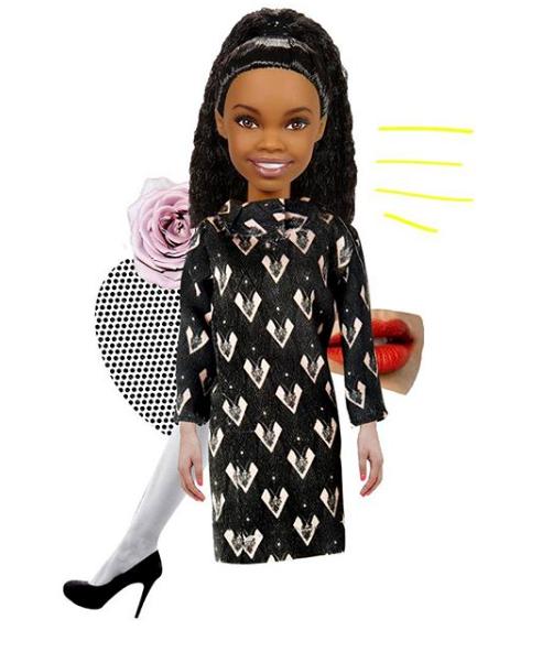 Barbie wearing Luigi Veccia
