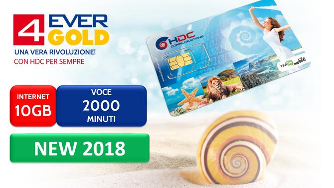 È arrivata la nuova SIM 4ever GOLD di HDC!