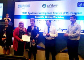 Scientific Writing Workshop for WHO EIS Officers held in New Delhi, India