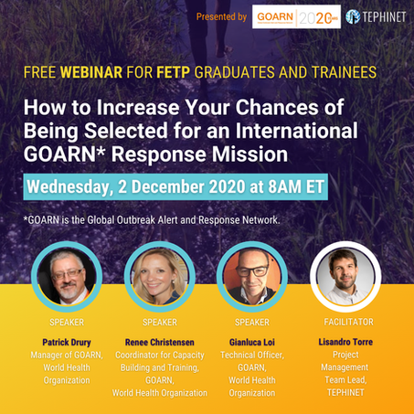 Sign-Up for FREE GOARN TEPHINET Webinar: How to Increase Your Chance of Being Selected for an Intern