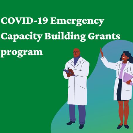 TEPHINET Opportunity: COVID-19 Emergency Capacity Building Grants program