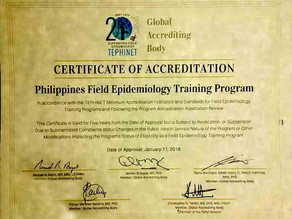 Philippines FETP becomes the first Asian program accredited by TEPHINET