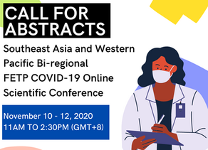 [Closed] SEA and Western Pacific Bi-regional FETP COVID-19 Online Scientific Conference Abstracts