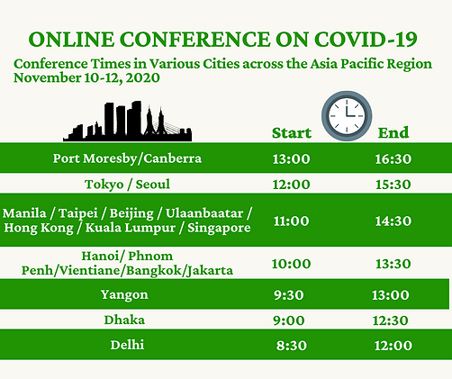 ONLINE CONFERENCE ON COVID-19 Schedule.p