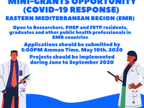 For EMR Region: Mini-grants Opportunity (COVID-19 Response) Application Open Dates