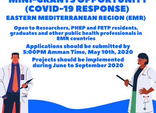 For EMR Region: Mini-grants Opportunity (COVID-19 Response) Application Open Dates