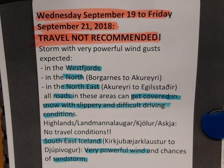Voyage à moto en Islande par Raid2roues:  Day 9 : Un avis de tempête !