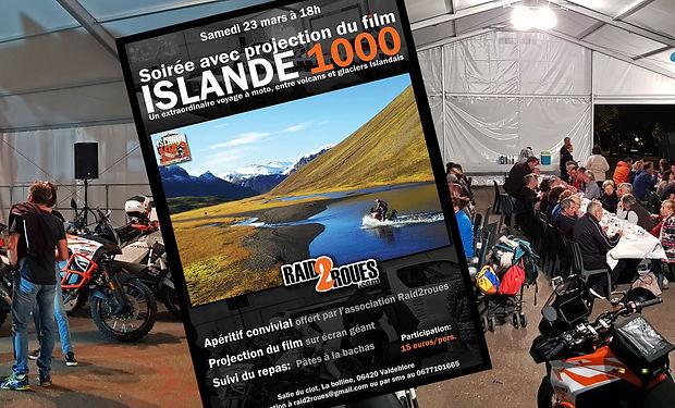 bande annonce islande 1000 Voyage à moto en Islande, un road trip par raid2roues soirée projection Islande 1000 à Valdeblore 06420