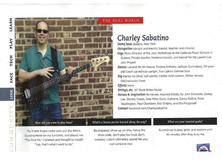 Bass Player Profile!!!