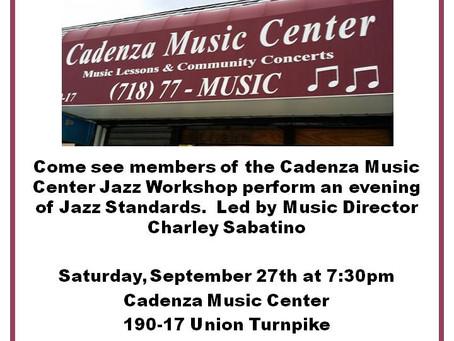 Cadenza Music School Jazz Workshop Concert!!!