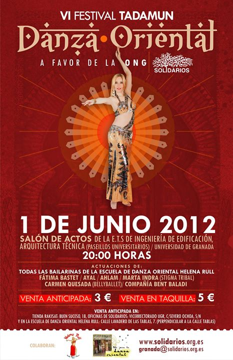 VI Festival Tadamun Festival Solidario de Danza Oriental en Grana