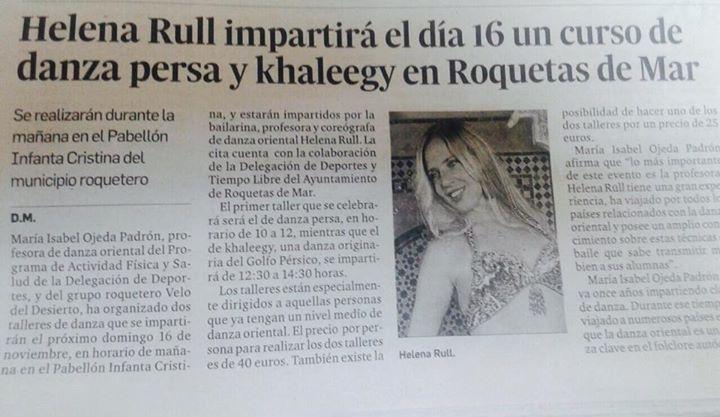 Helena Rull en Roquetas de Mar