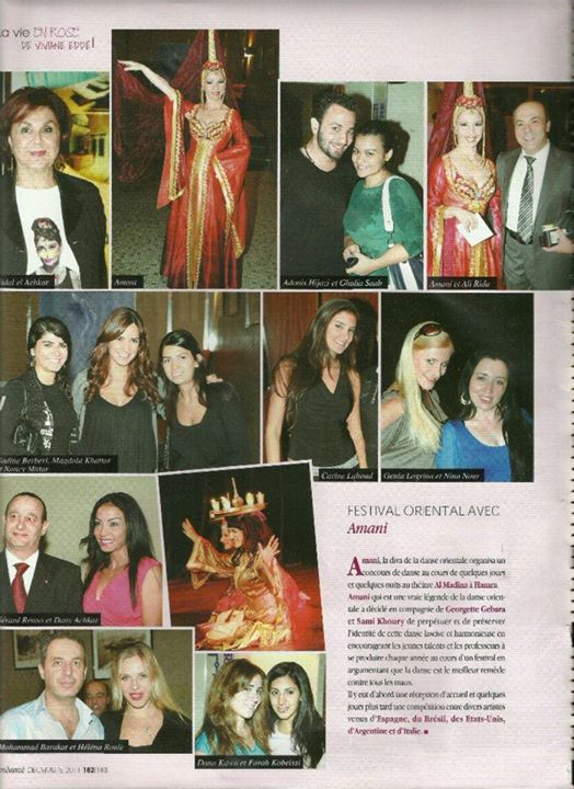 Helena  Rull in Amani Oriental Festival 2011 Opening Night on Mondanite Magazine (Lebanon)