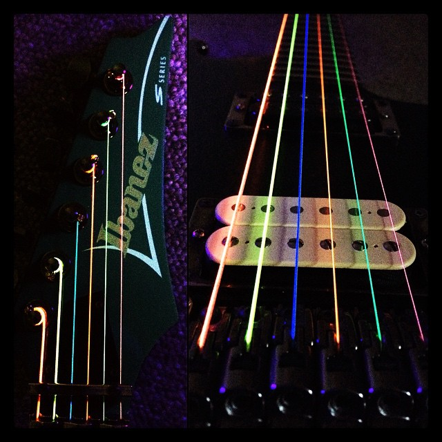 Ibanez - neon DR strings.