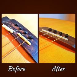 Tenor Guitar Saddle + Bridge