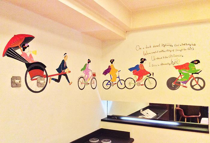宿泊施設 室内壁画