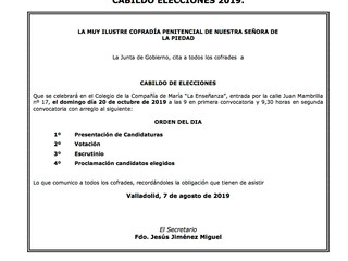 Convocatoria a Cabildo de Elecciones