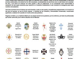 Comunicado de prensa de las Cofradías y Hermandades de Valladolid ante la Emergencia sanitaria COVID