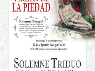 Solemnes Quinario y Triduo