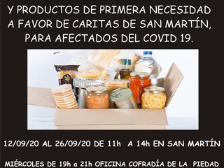 Campaña de recogida de alimentos.