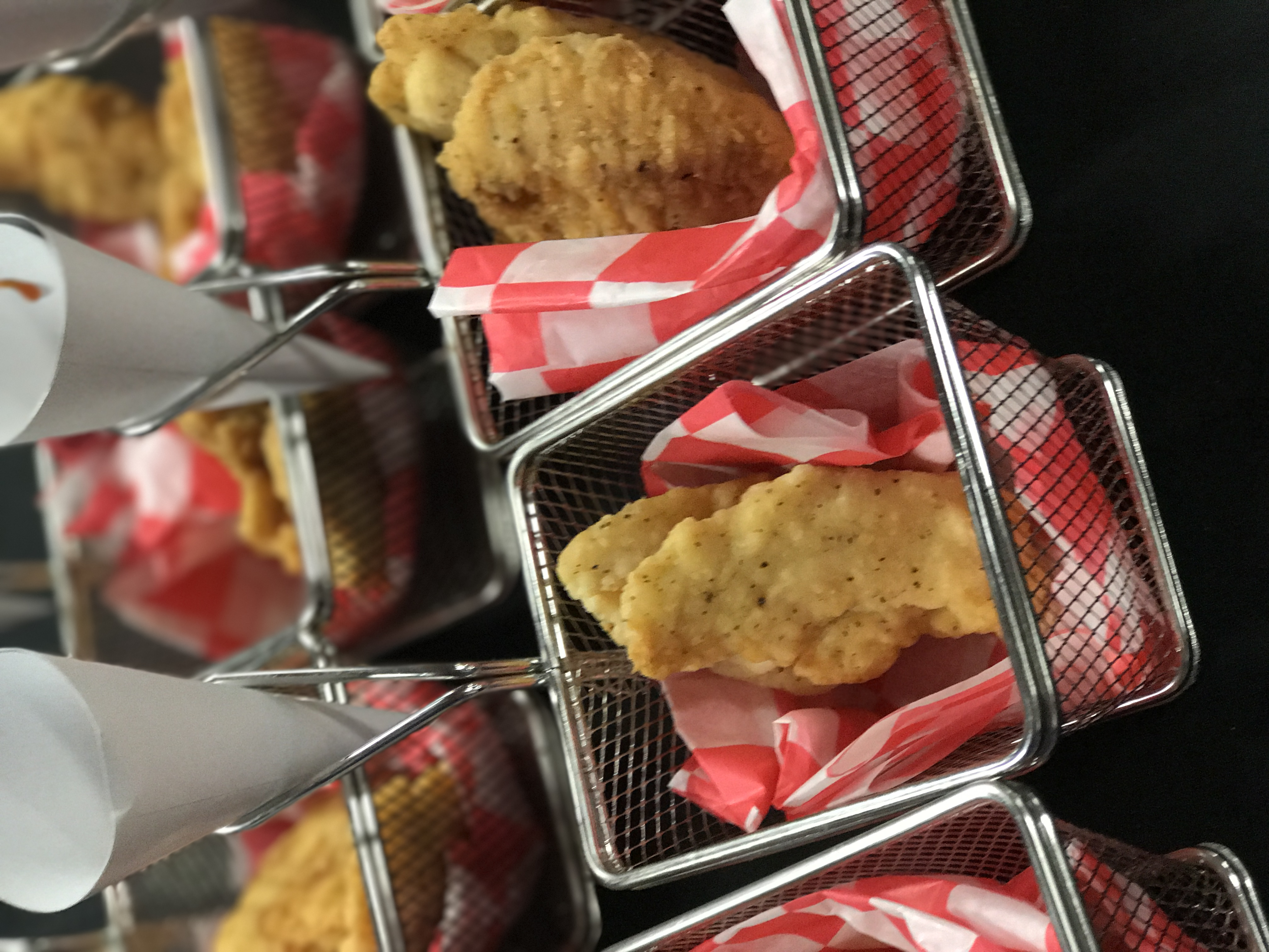 Chicken Tenders in a Basket