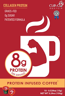 CUP-O Protein Infused Coffee 10 count box