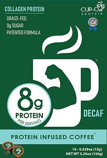 CUP-O Protein Infused Decaf Coffee 10 count box