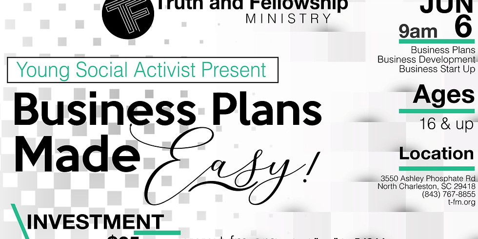 Business Plan Made Easy Workshop