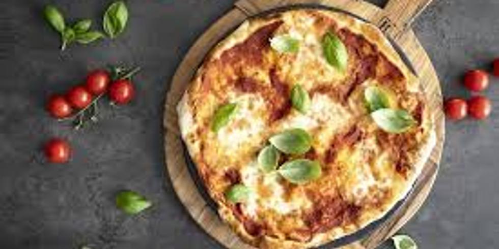 Pizzakveld med italiensk pizza