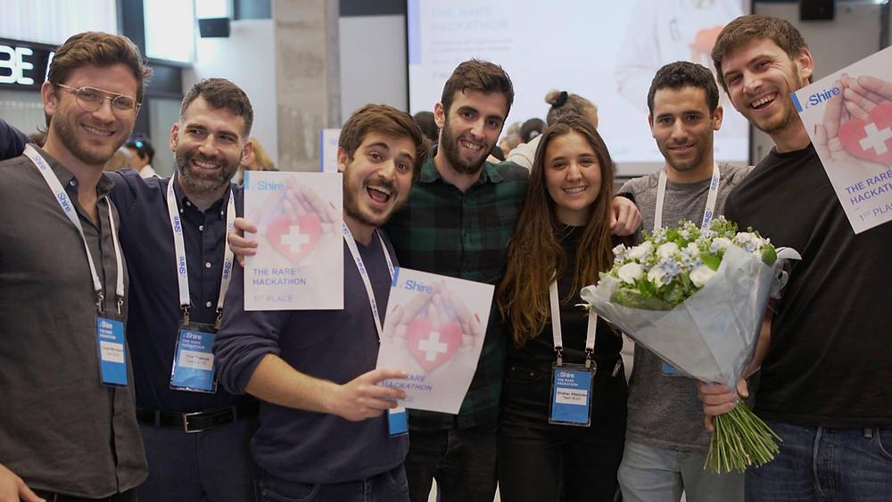 הזוכים בהאקתון The Rare Hackathon