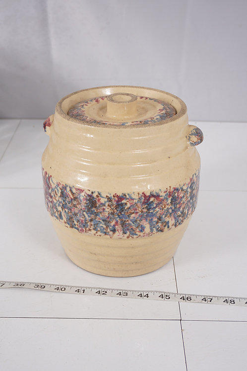1 Gallon Decorative Stoneware Crock With Lid