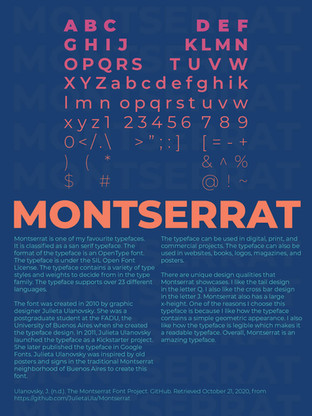 Montserrat Type Poster