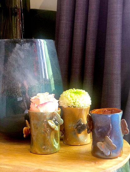 "Vase ""Butterflies"" Small Ceramic"