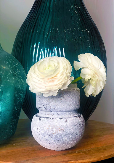 """Vase """"Frosted Stone"""" Glass"""
